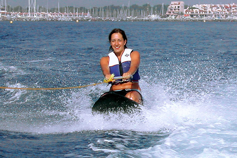 sports water holidays adventure kneeboard boat knee watersports boarding kneeboarding behind sport activity